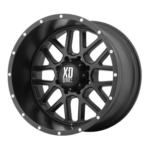 XD SERIES BY KMC WHEELS GRENADE SATIN BLACK